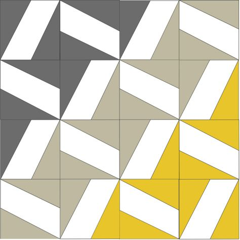 Free foundation paper piecing template Whirlwind block.
