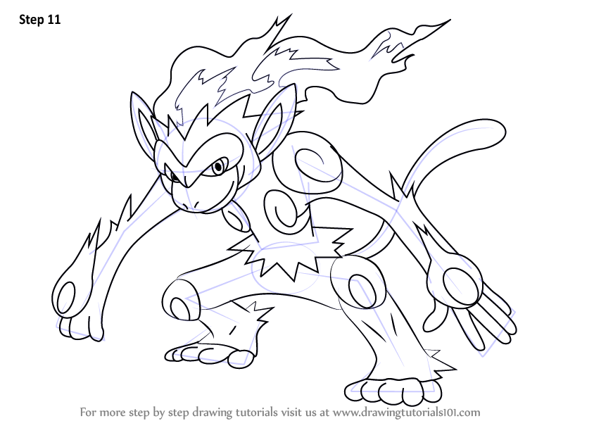 Learn How To Draw Infernape From Pokemon Pokemon Step By Step Drawing Tutorials Pokemon Coloring Pages Pokemon Drawings Pokemon