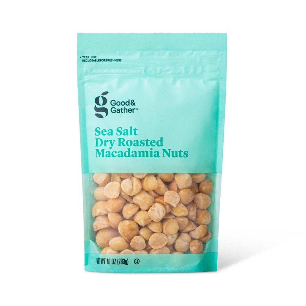 Sea Salt Roasted Macadamia Nuts 10oz Good Gather Macadamia Nuts Mixed Nuts Packaging Organic Food Packaging