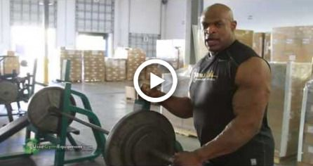 Ronnie Coleman Lifting on UsedGymEquipment.com Gym Equipment in His PRIVATE GYM! #fitness