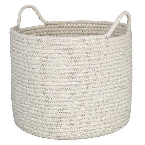 5c10d8c455fc Buy John Lewis Rope Storage Bucket, White Online at johnlewis.com ...