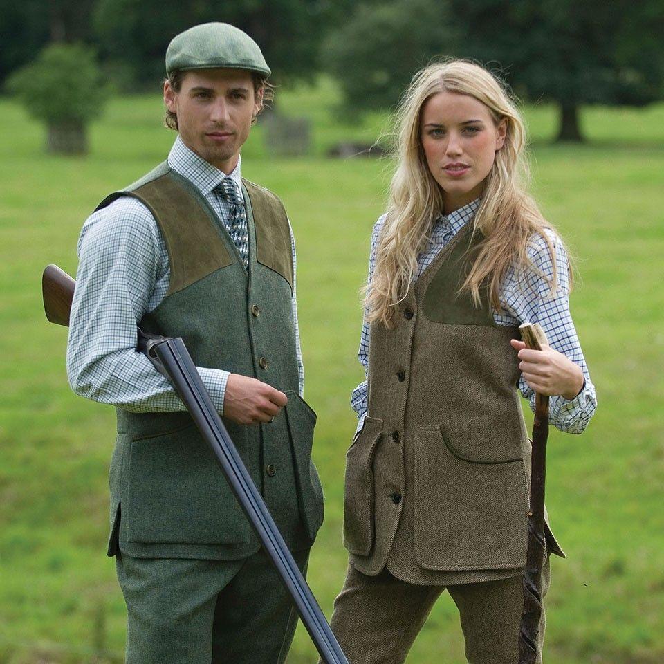 Ladies & Gents; Tweed Shooting Waistcoat