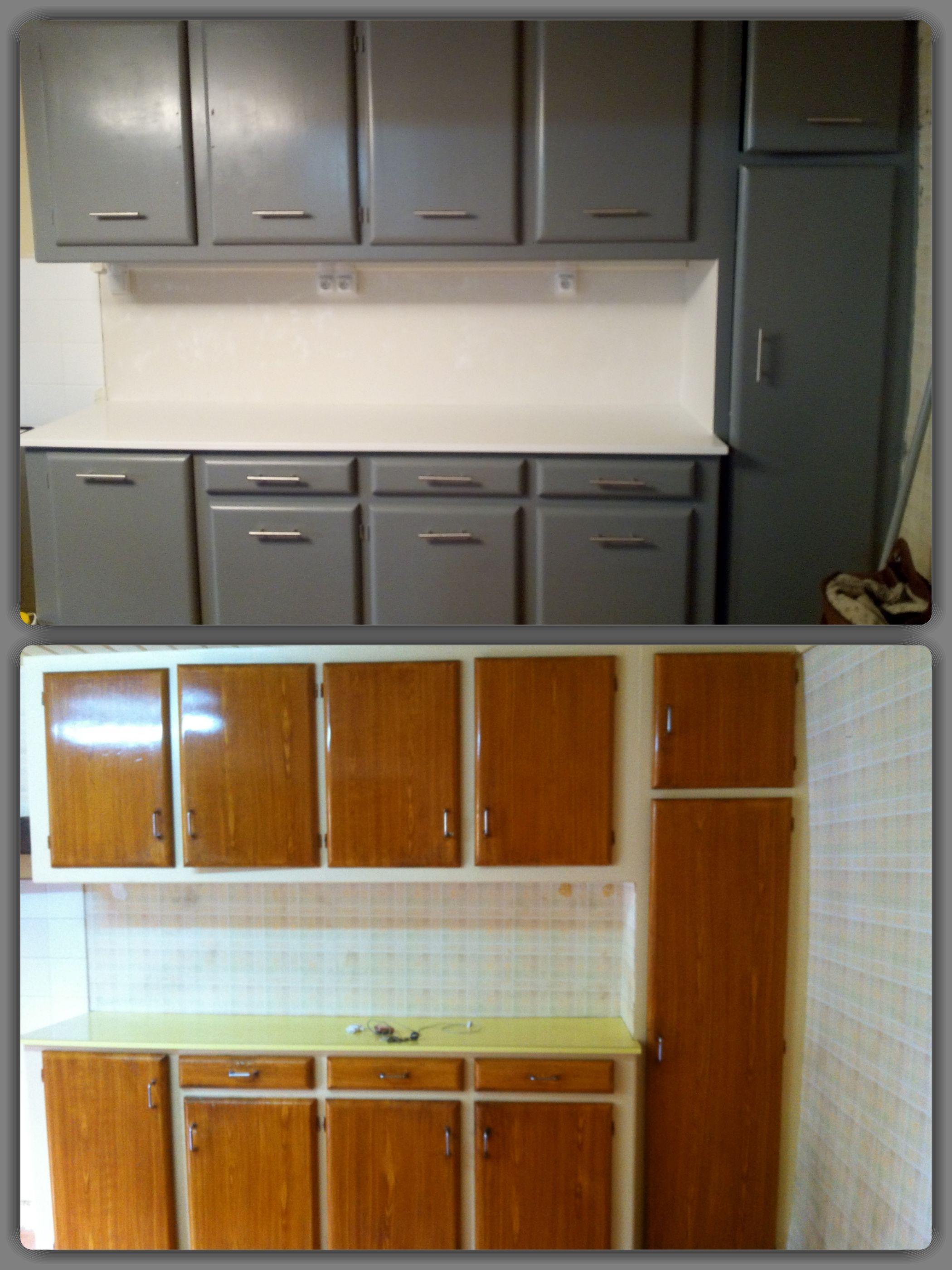 Peinture Résine Pour Meuble En Bois maison ancienne, meuble de cuisine fait maison repeint