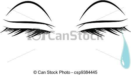 clipart vector of crying eyes womans eyes shedding a single tear rh pinterest com