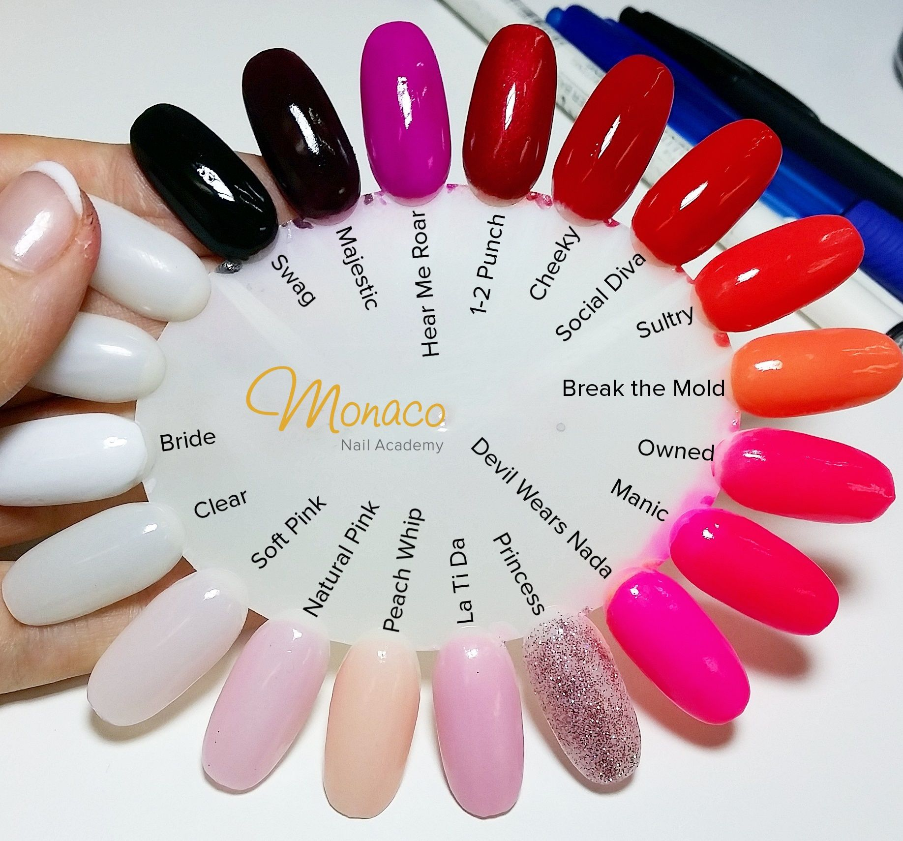 Artistic Perfect Dip, via Monacopro.co.nz | Dip Nails Color Swatches ...