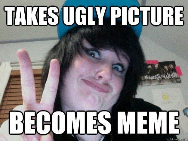 Funny Meme Ugly Girl : Not sure if boy in makeup meme generator captionator