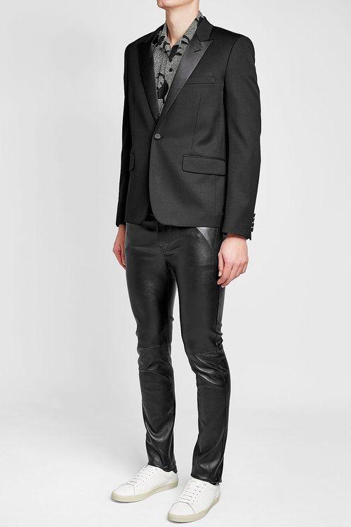 4e9ed231d8fc0 Saint Laurent - Virgin Wool Blazer with Satin Lapels