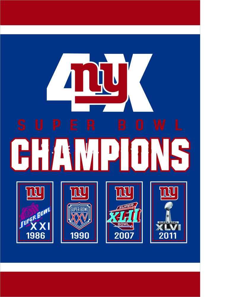 8b2df3af New York Giants Super Bowl Champions Flag (3ft x 5ft)   NFL NY ...