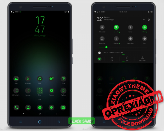 Download Tema Xiaomi Black Shark Mtz v1.0 Untuk MIUI 10