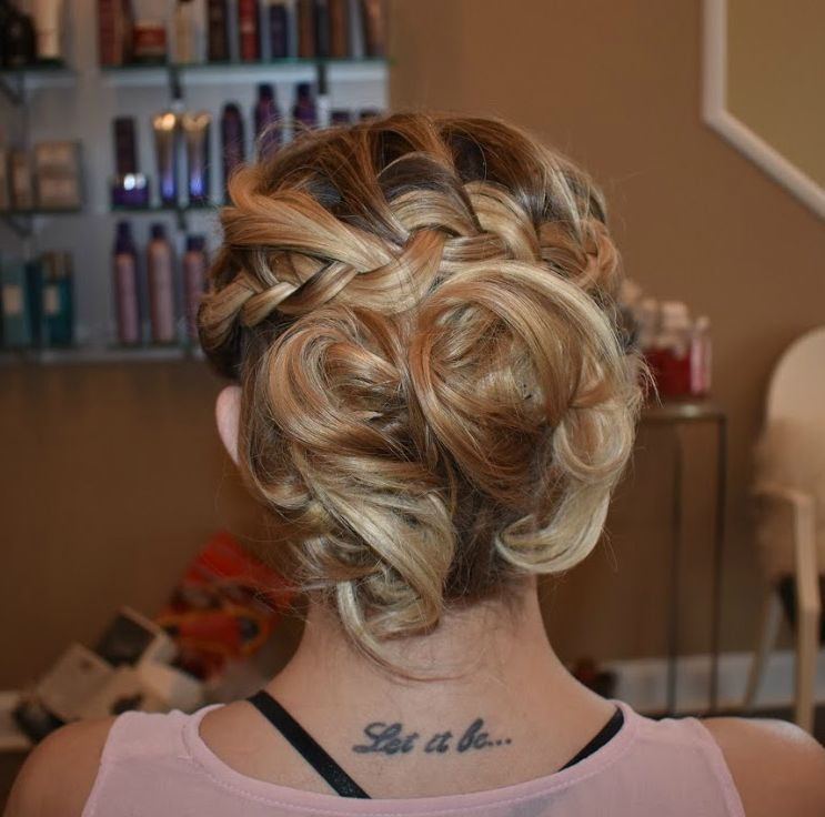 simple twisted updo style by Ciera! #IllusionsDC  twist, braided updo, vintage knots, fashion, style