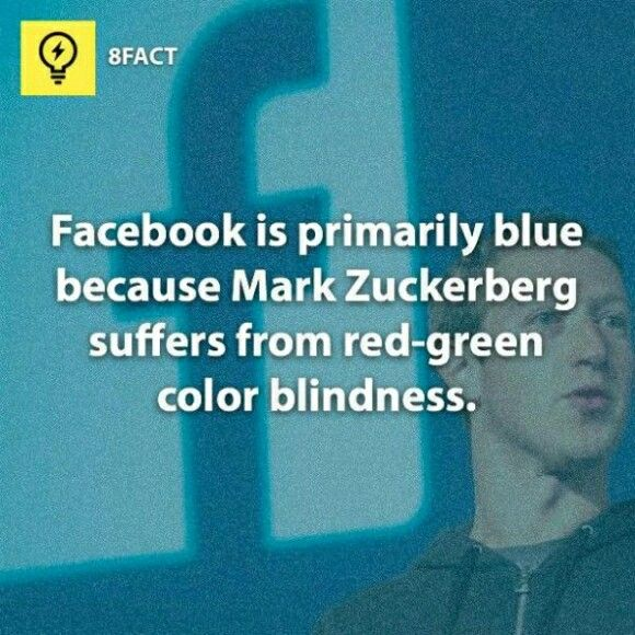 Why fb is blue