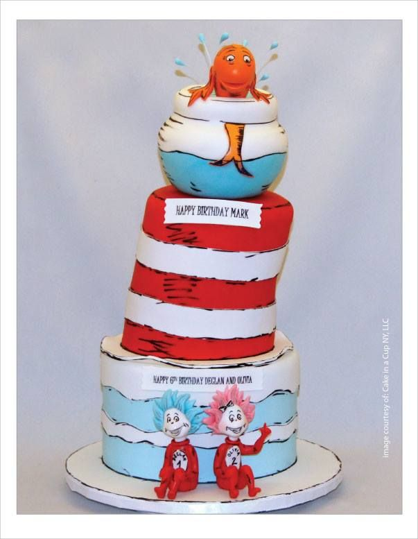 Dr Seuss, fishbowl and Thing 1 & Thing 2.