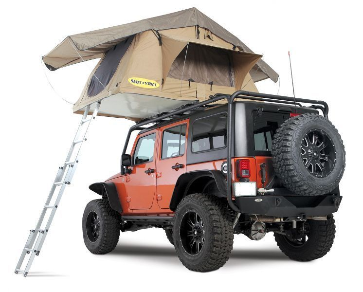 Smittybilt Overlander Roof Top Tent Jeep Tent Roof Top Tent Jeep Camping