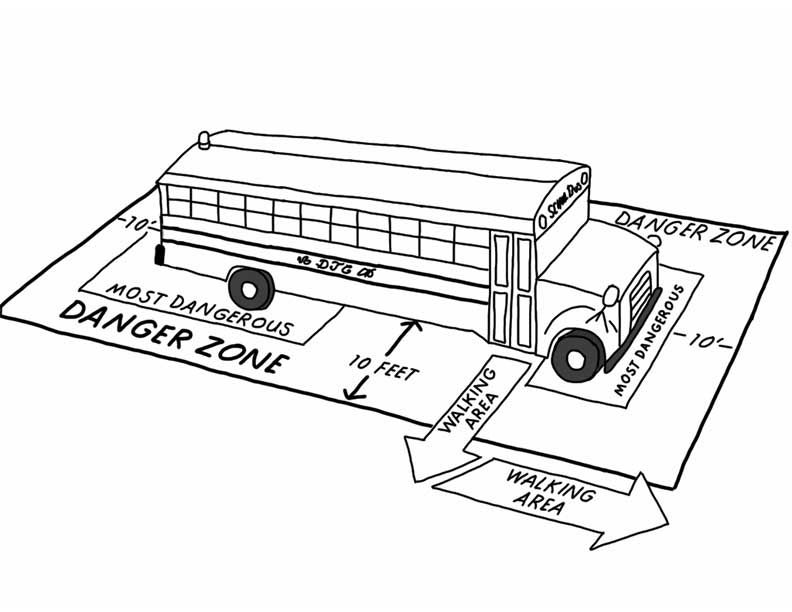 Printable School Bus Coloring Page For Free School Bus Safety