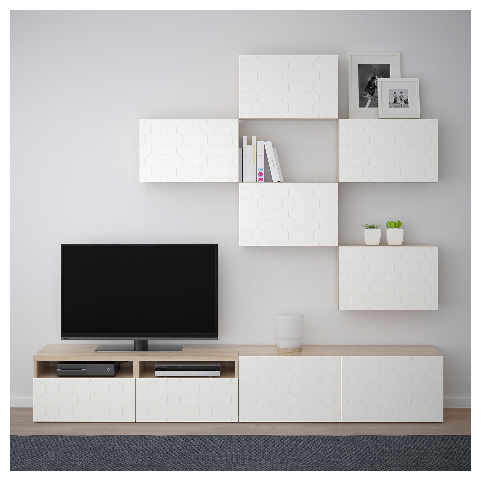 Besta Tv Mobel Kombination Eicheneff Wlas Vassviken Weiss Wohnzimmer Tv Wand Ideen Tv Mobel Wohnzimmer Umgestalten