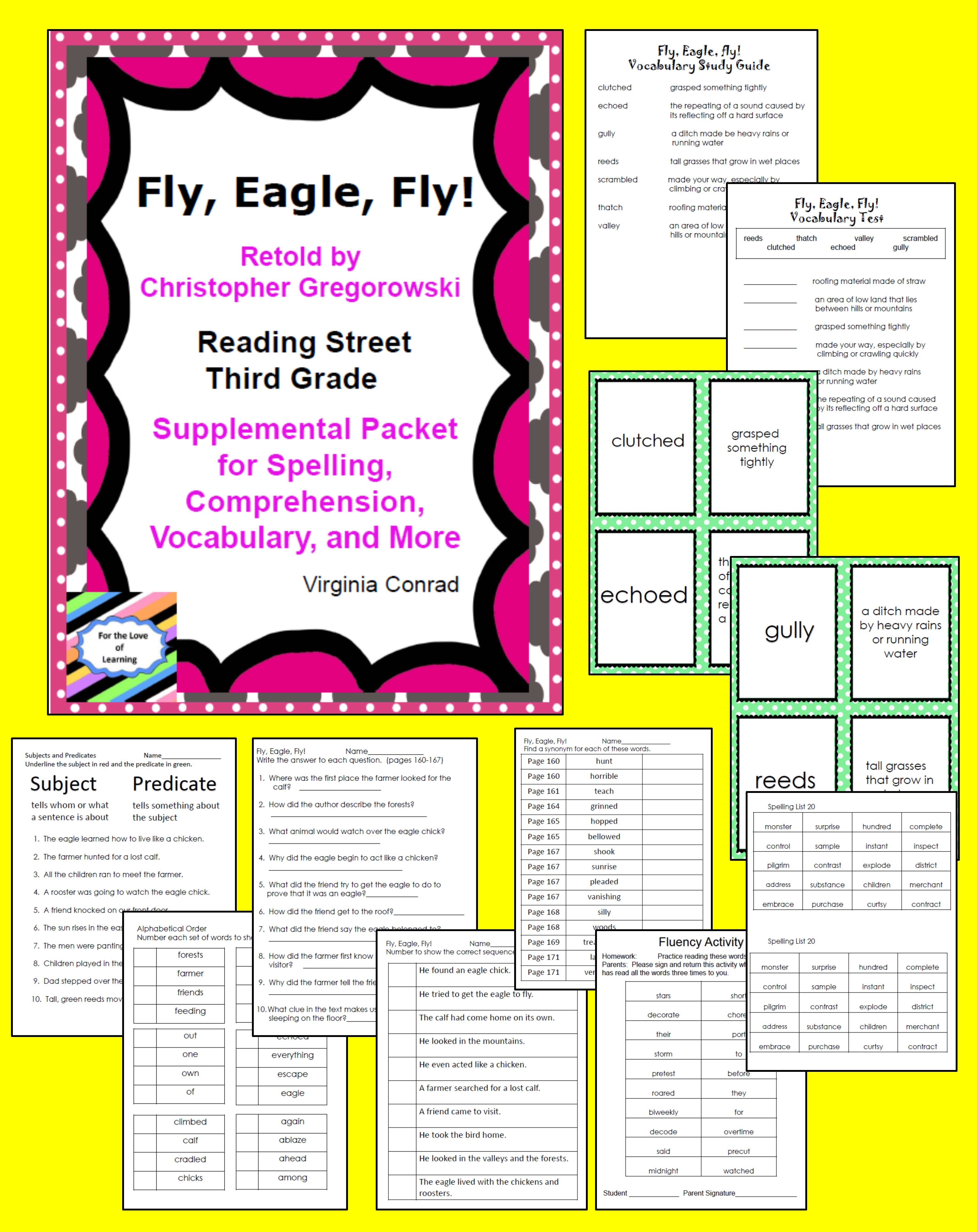 Fly Eagle Fly Supplemental Packet Reading Street