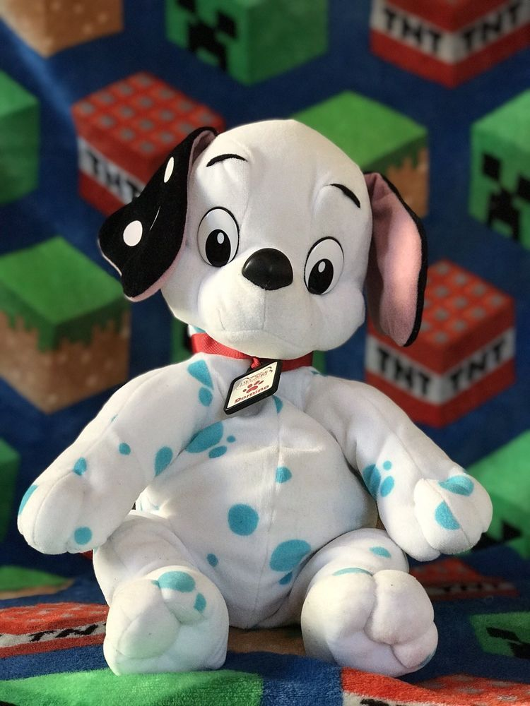 Mattel 15 Disney 102 Dalmatians Domino Collar Plush Toy Blue