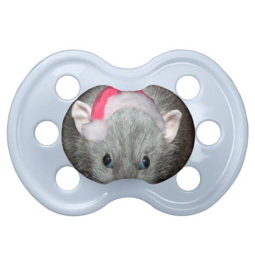 Santa Dumbo rat Christmas Baby Pacifier