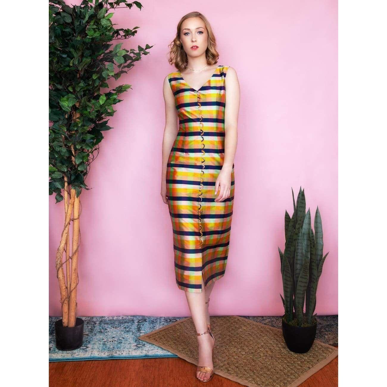Olivia Rose Gold Midi Dress - Medium (Sizes 6-8)
