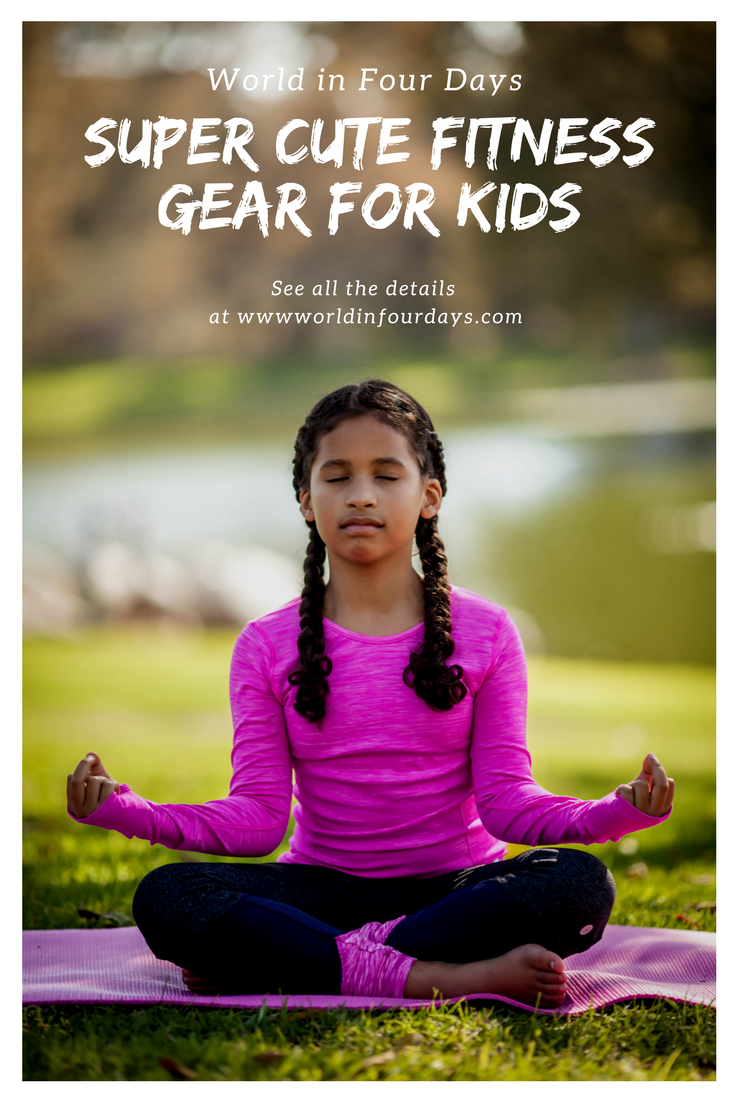 Awesome fitness gear your kids will love that will make them want to be more active.  Kids fitness challenge, kids fitness clothes, yoga for kids, Kids ootd, kids fashion