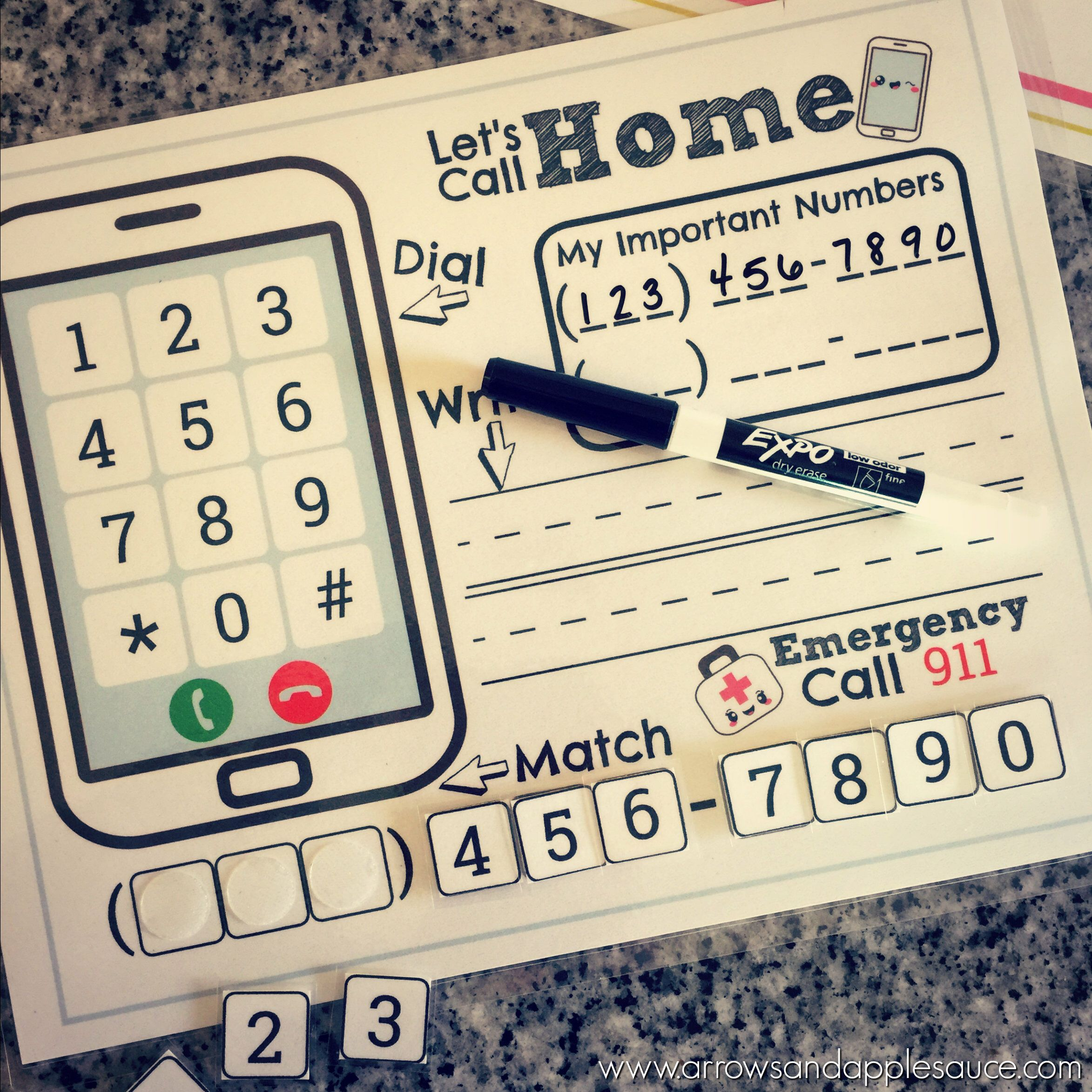 Phone Number Kids Activity Phone Number Practice About