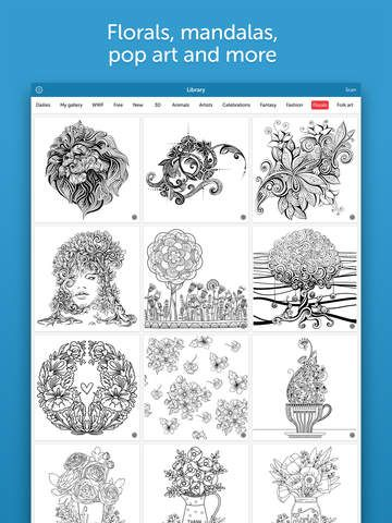 Recolor Coloring Book For Adults On The App Store Apps Redes Sociales Educacion