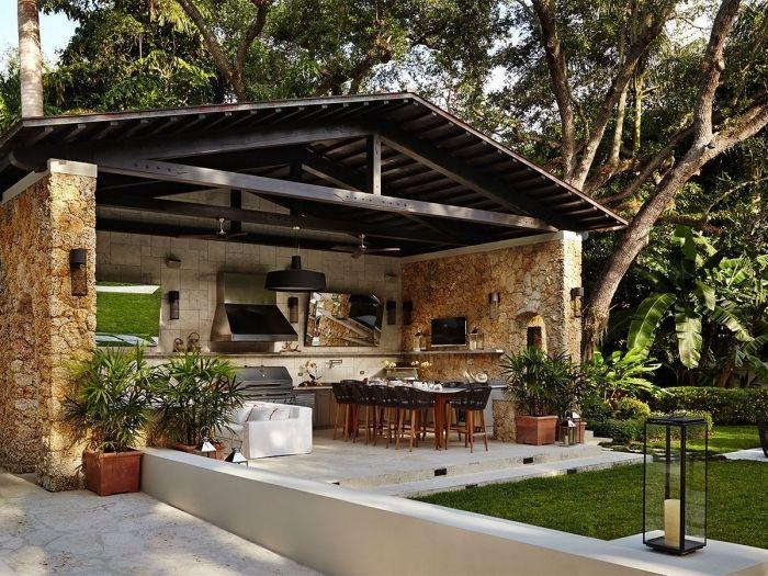▷ 1001 + designs splendides d\u0027une cuisine extérieure maison - Cuisine D Ete Exterieure En Pierre