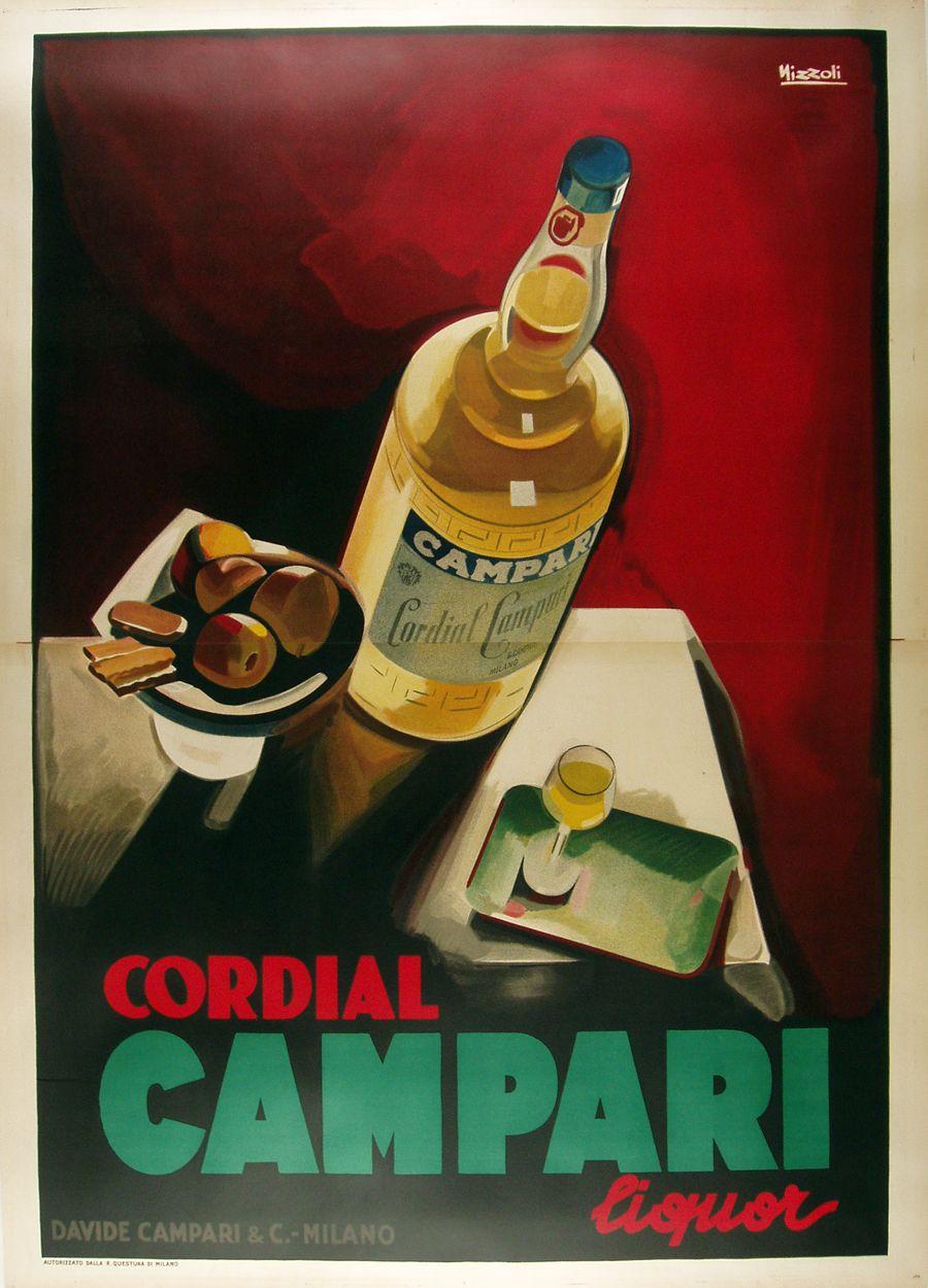 Cordial Campari Vintage Italian Poster By Nizzoli C