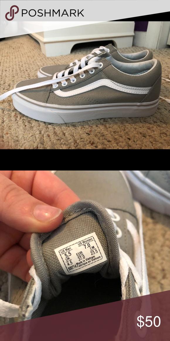 grey old skool vans size 5