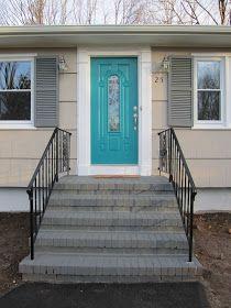 Best Retro Ranch Reno Painted Brick Steps Front Door Siding 640 x 480