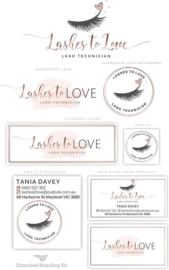 80ff4edb8ea Lashes logo Eyelash extension logo Cosmetics logo Branding | Design ...