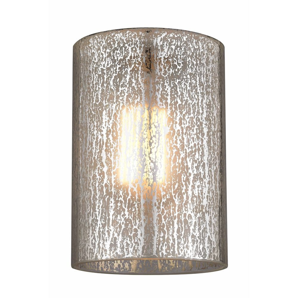 Mercury Cylindrical Glass Shade At Destination Lighting Glass