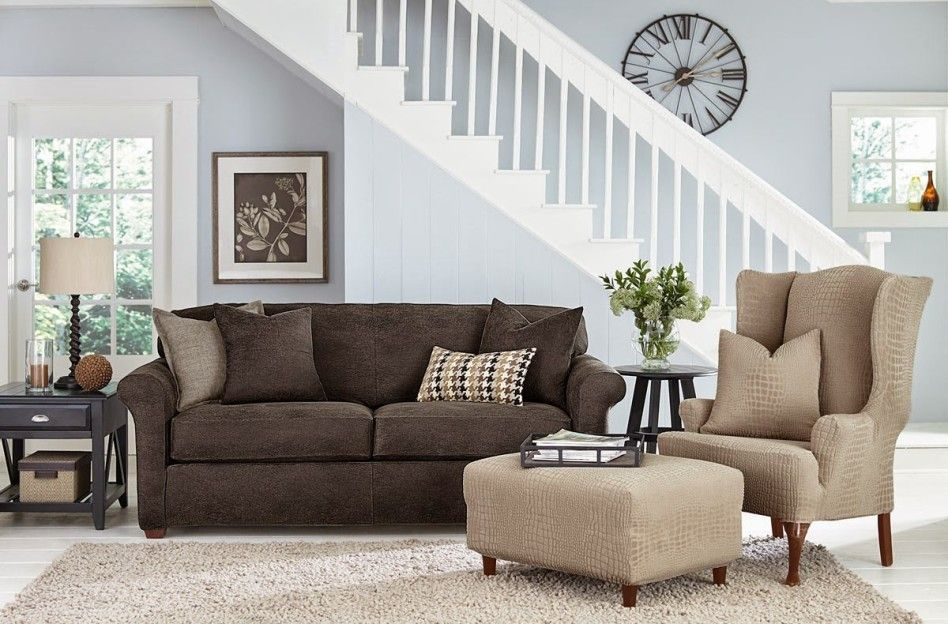 Top Notch Living Room Decoration Using Various Slipcovers For Leather Sofa Contempo Picture O Dark Brown Couch Living Room Brown Living Room Living Room Grey