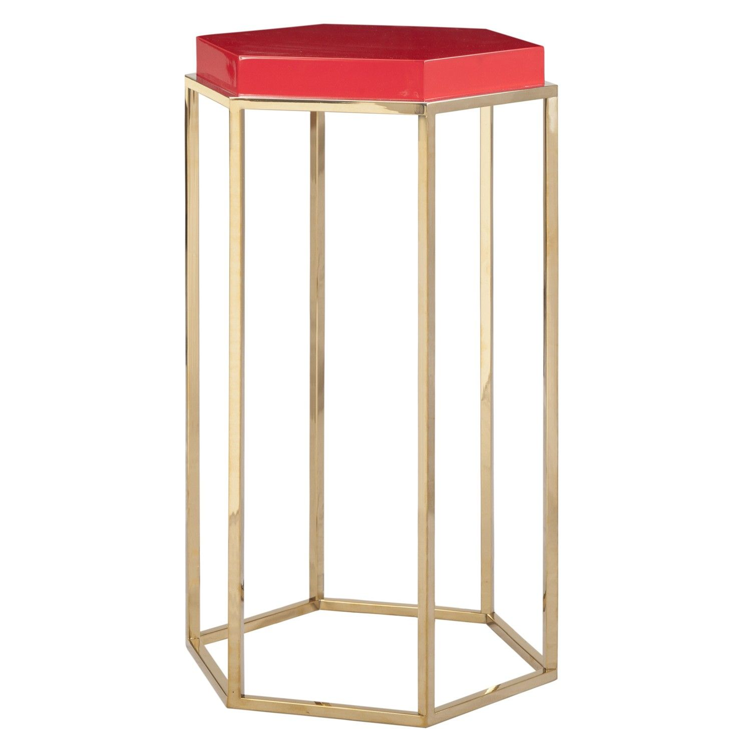 Worlds Away Elsa Side Table - Red