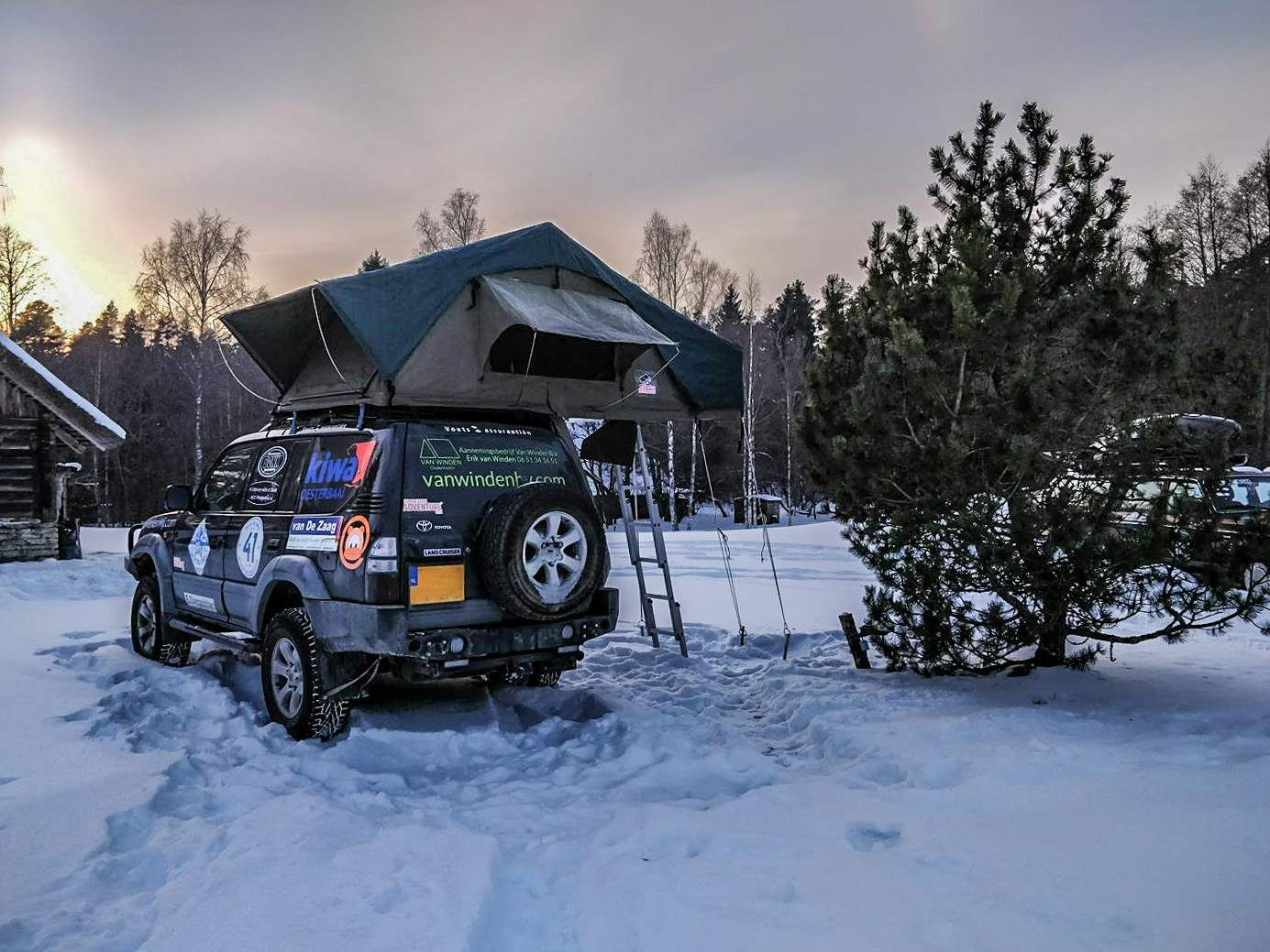 Tembo 4x4 Camping In The Snow Roof Top Tent 4x4 Off Road Adventure