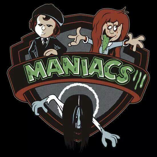 Animaniacs style Regan, Damien & Samara HORROR KIDS