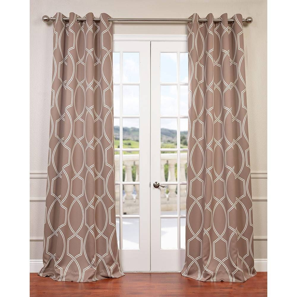 Curtain pair overstock shopping great deals on lights out curtains - Exclusive Fabrics Lisbon Bronze Grommet Top Blackout Curtain Panel Pair By Exclusive Fabrics