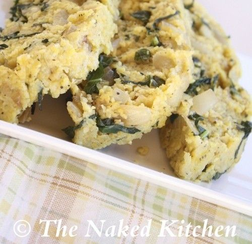 Italian Herbed Polenta with Kale - Garlic Gold