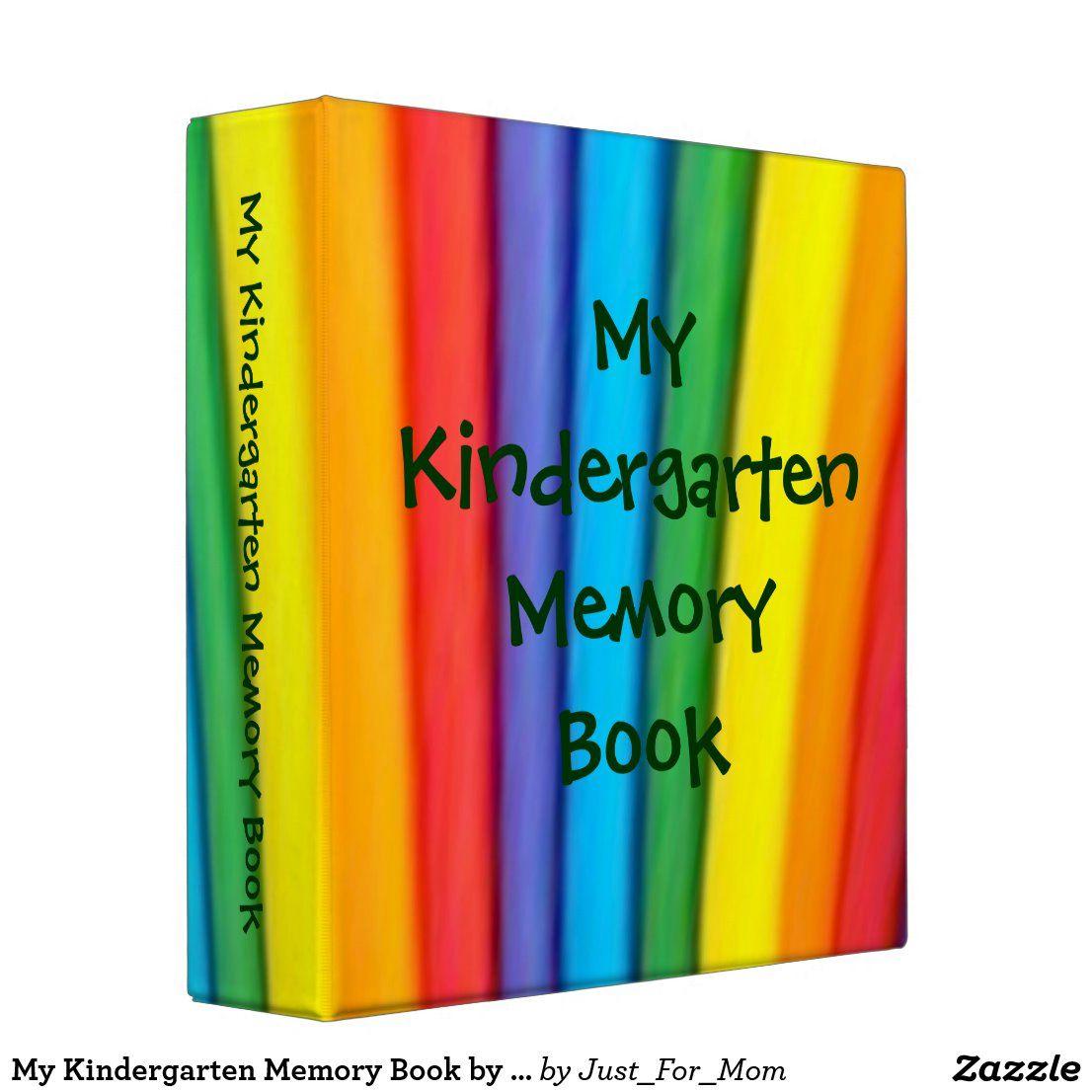 My Kindergarten Memory Book By Janz Binder