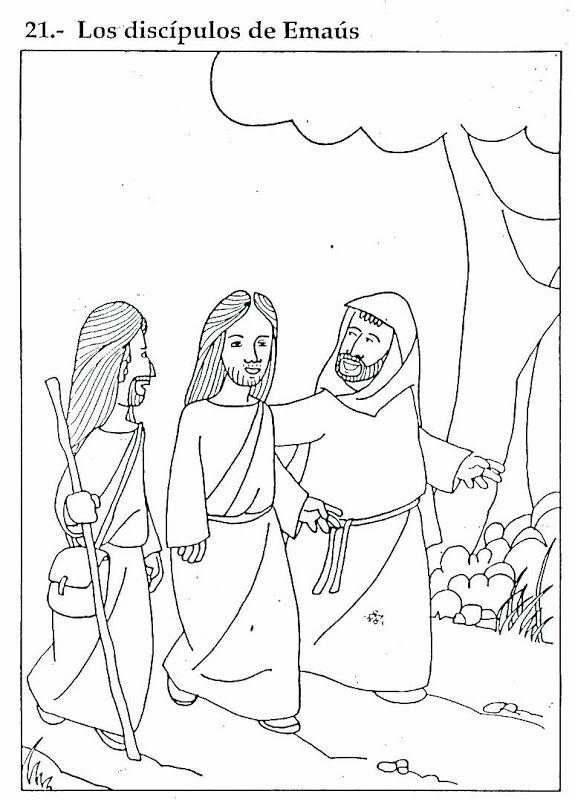 Pinto Dibujos: Los discípulos de Emaús – Dibujos para colorear ...