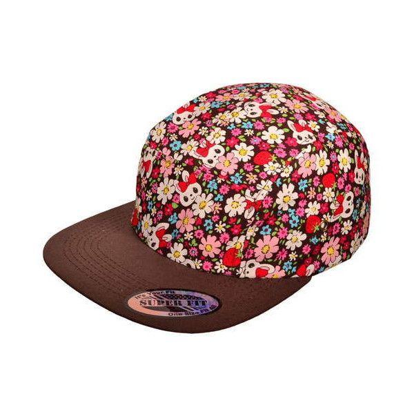 Wholesale Flat Bill 5 Panel Biker Jockey Cycle Snapback Hats Liked On Polyvore Featuring Accessories Hats Brown Snapback Flat Bill Hats Brown Hats Hats