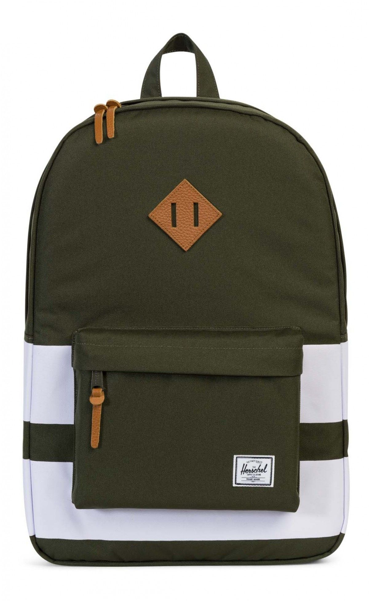 1bb80936f41 Herschel Heritage Backpack 600D Poly Forrest Night Rugby Stripe ...