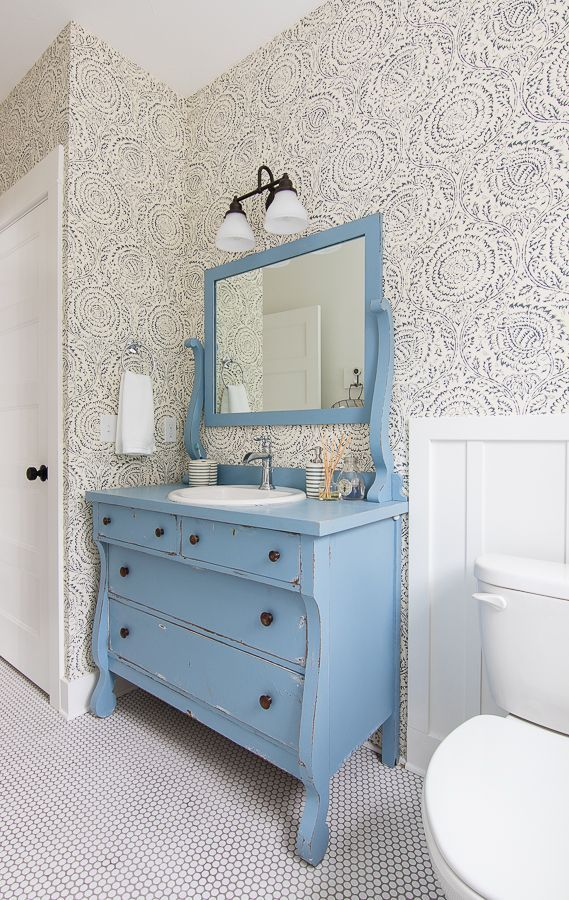 Blue And White Bathroom Design Mit Bildern Dekoration