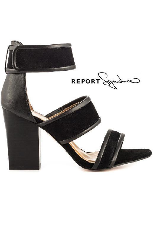 fcedfc9f Цена: 1350 грн. - Report signature оригинал кожаные замшевые босоножки на  широком каблуке из