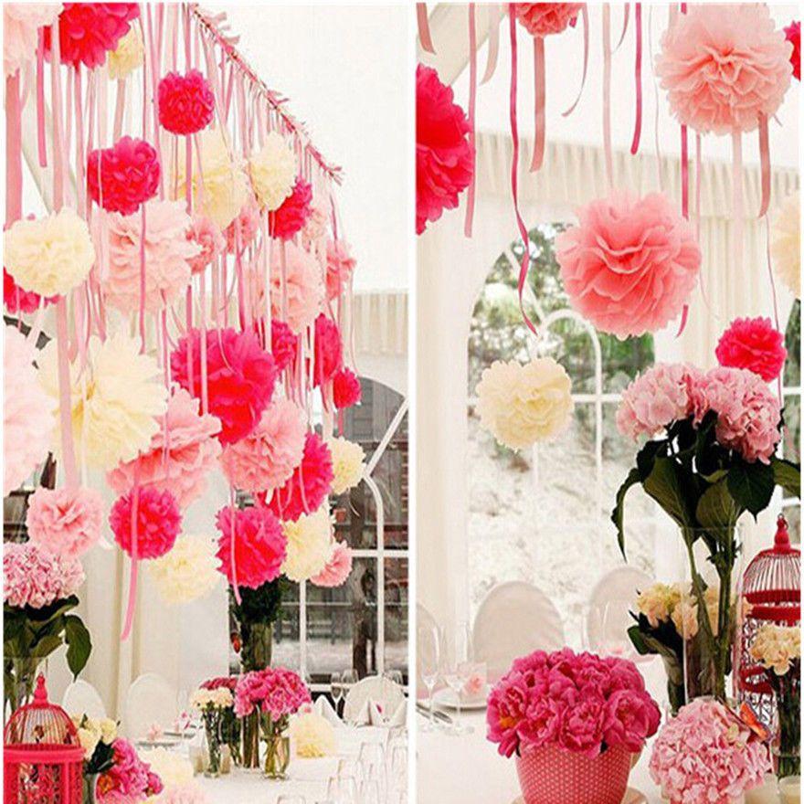 20pcs Garden Home Dekoration Blumenball Hochzeit Party Neu Schön  Seidenpapier In Möbel U0026 Wohnen, Hochzeitsdekoration