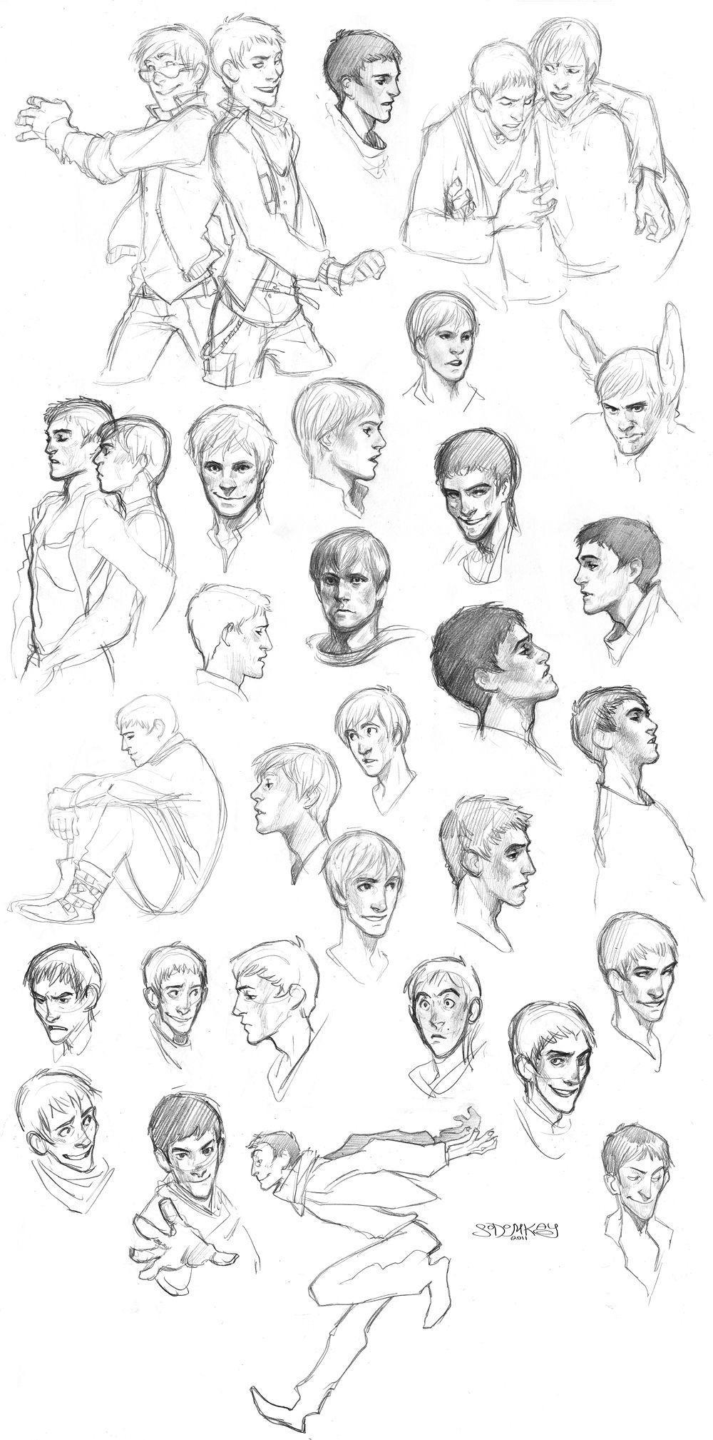 Merlin 11 sketches by *MisterKay on deviantART | Sketch | Pinterest ...