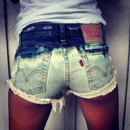 vintage washed Levi's shorts