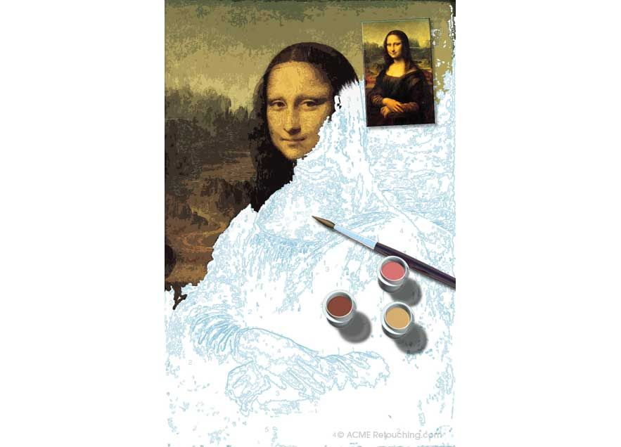 Paint by Numbers Mona Lisa | Mona lisa, Paint by number, Mona