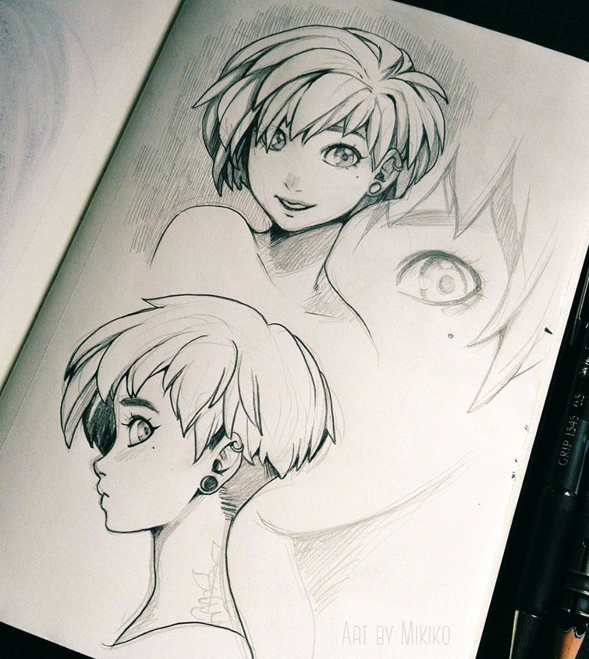 Short hair by zombiesmile personaggi fumetto personale pinterest
