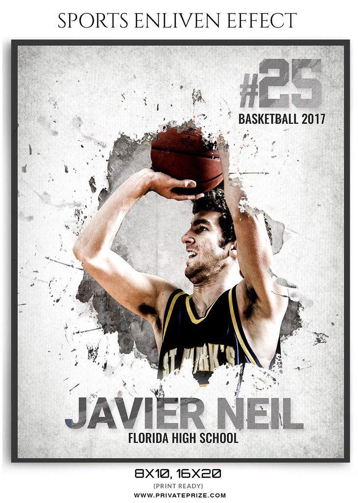 Javier Neil Basketball Sports Photography Photoshop Template ...